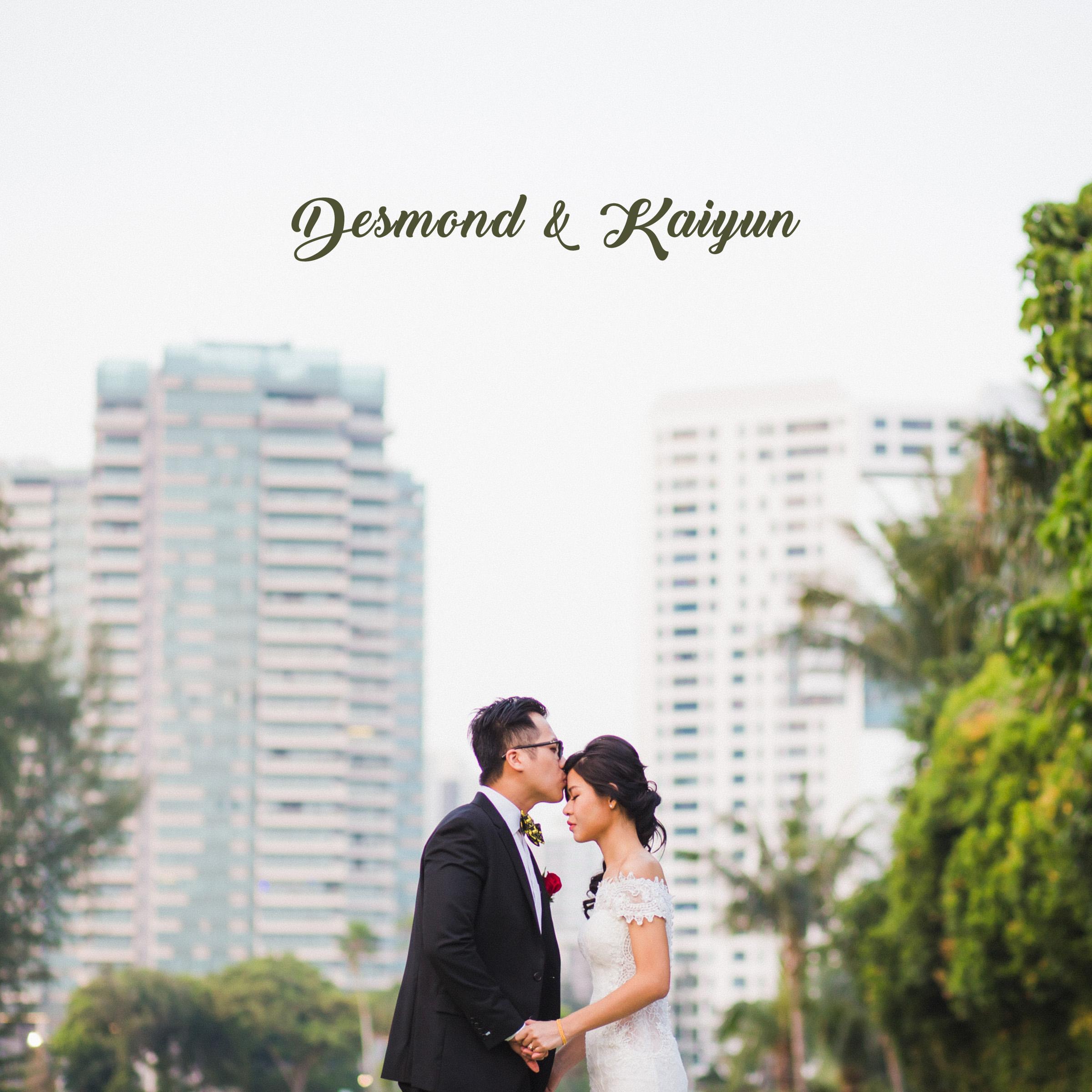 Desmond & Kaiyun Actual Day