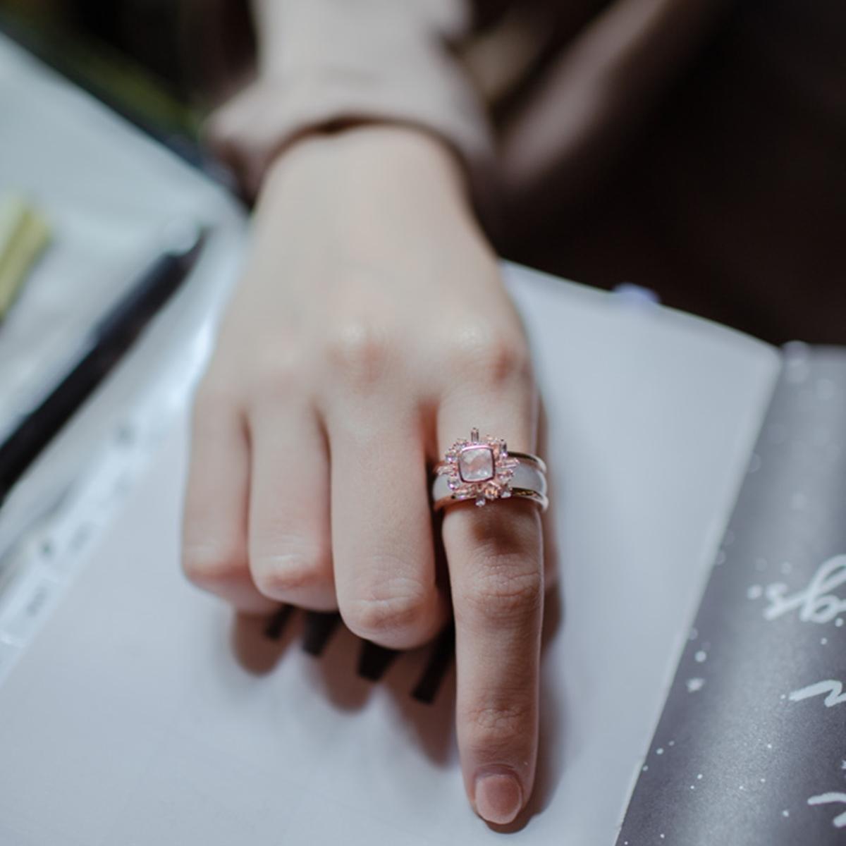 Sundial Jade Ring