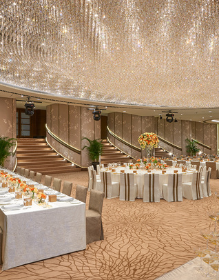 Thumb ballroom wedding long table setup ii